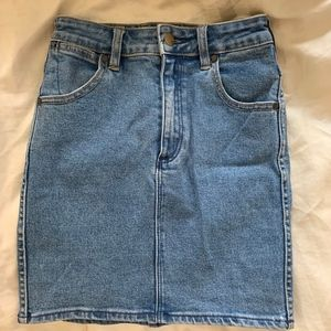 Wrangler Mini Denim Skirt